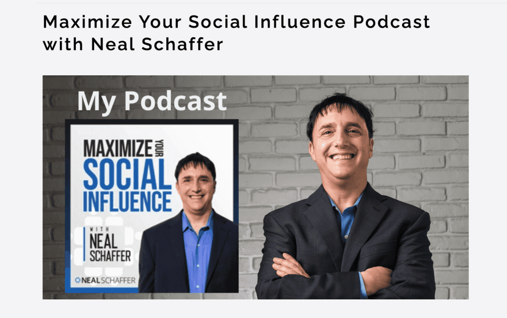 Neal Schaffer podcast page
