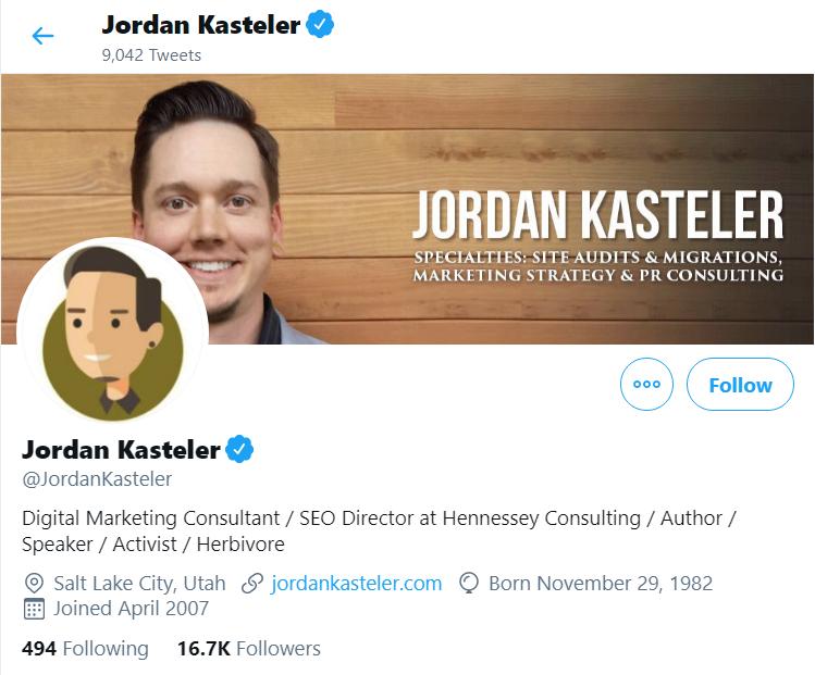 Jordan Kasteler Twitter