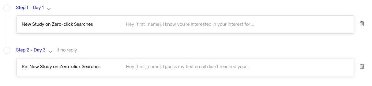 2 Email Sequence