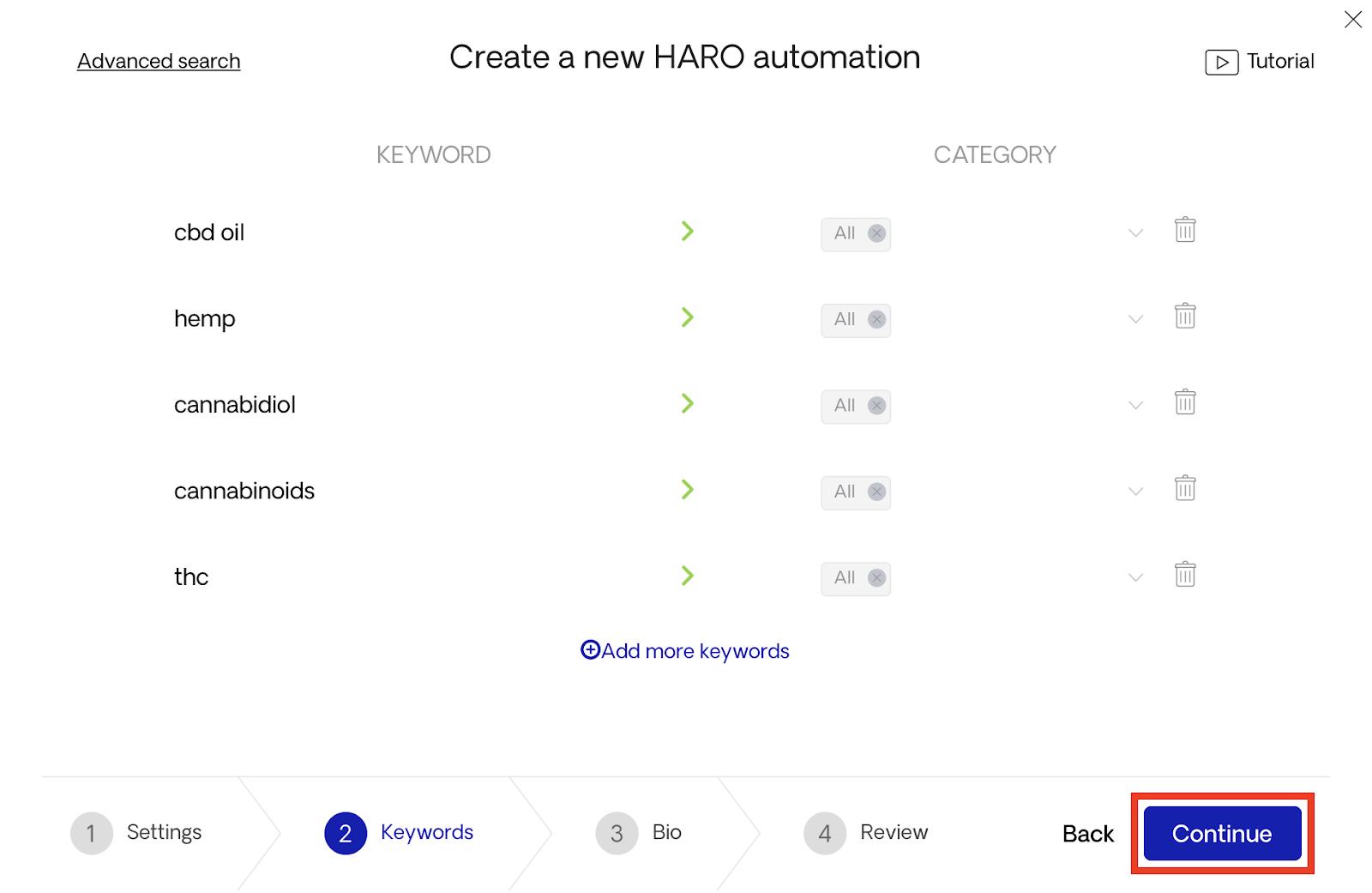 Continuing HARO automation setup 2