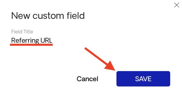 Creating a new custom field
