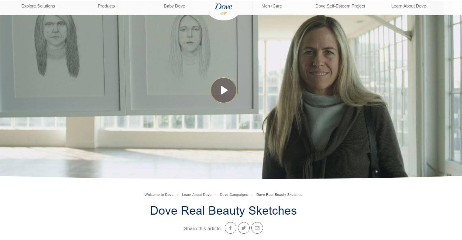 Dove beauty sketches