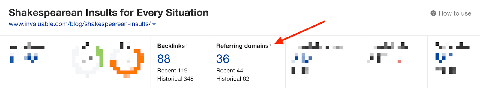 Invaluable Ahrefs referring domains