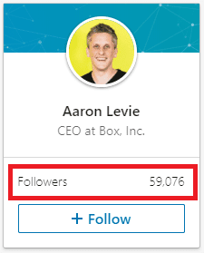 Aaron Levie LinkedIn Followers