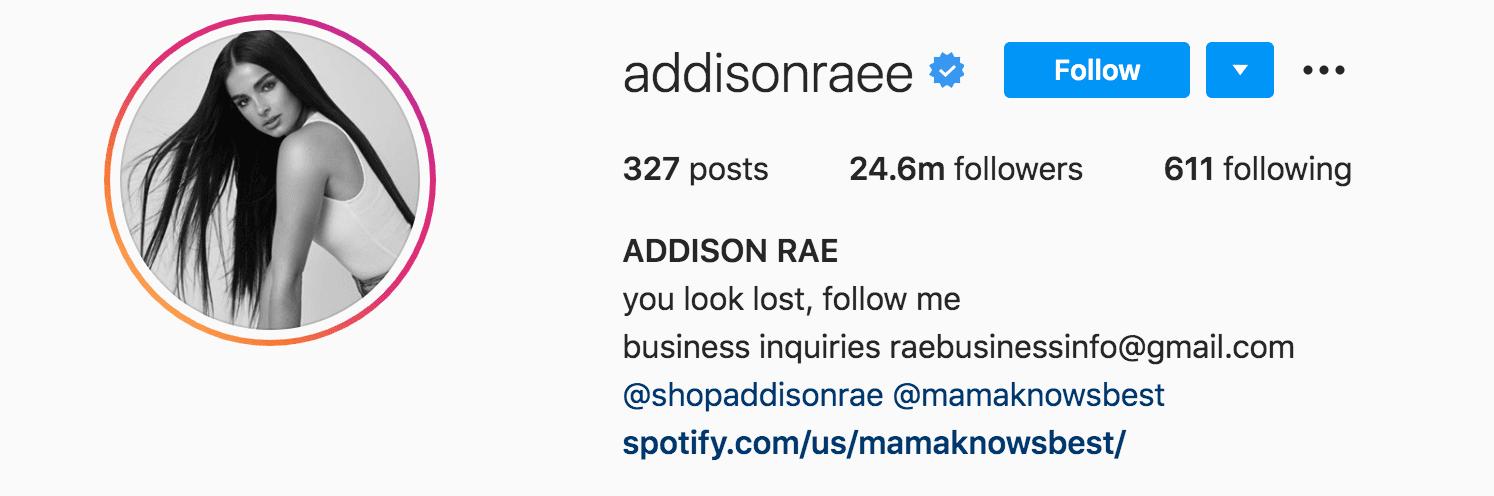 Addison Rae Instagram