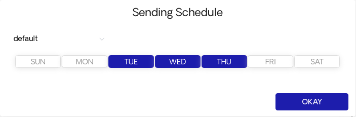 Adjusting Your Schedule