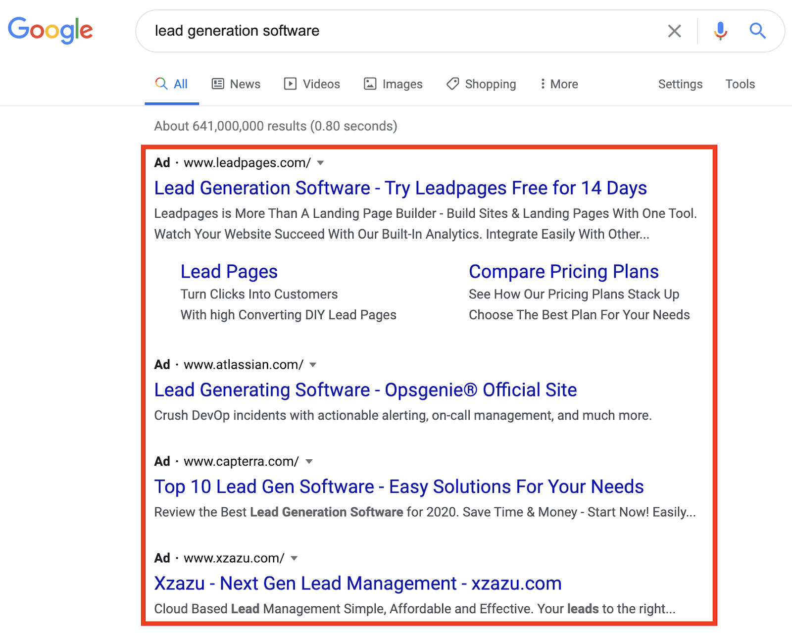 Ads for Lead Generation Software