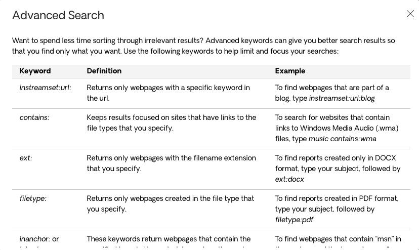 Advanced Search With Respona