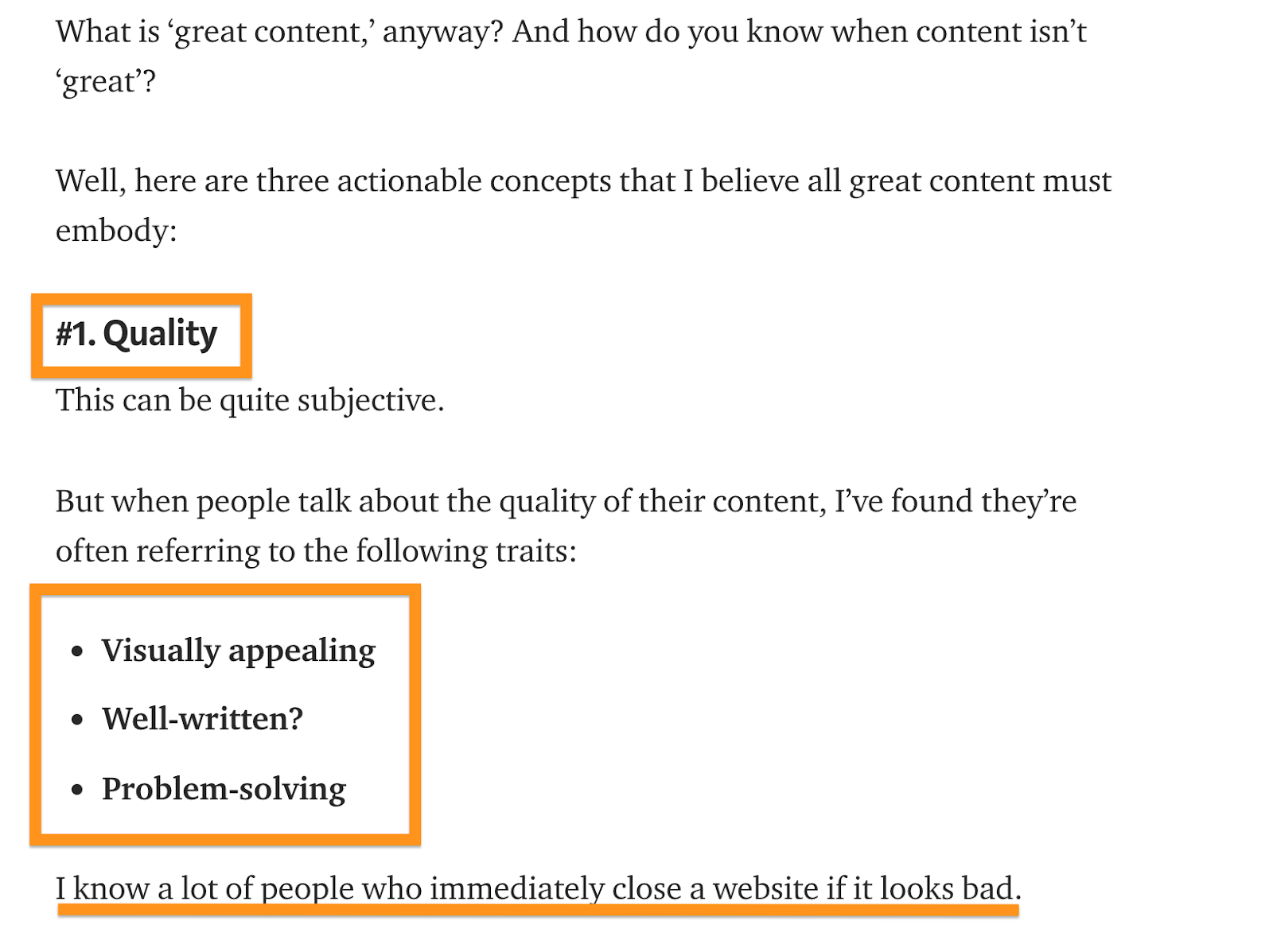 Ahrefs High Quality Content