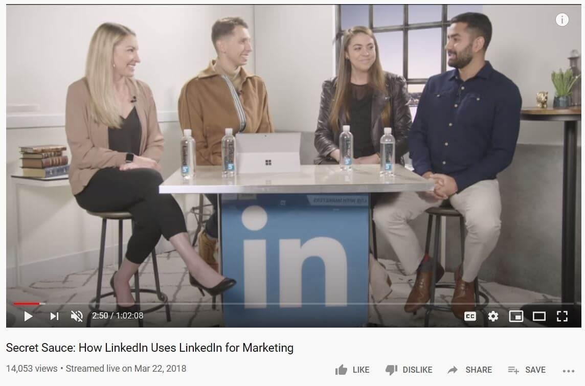 LinkedIn Youtube video 1