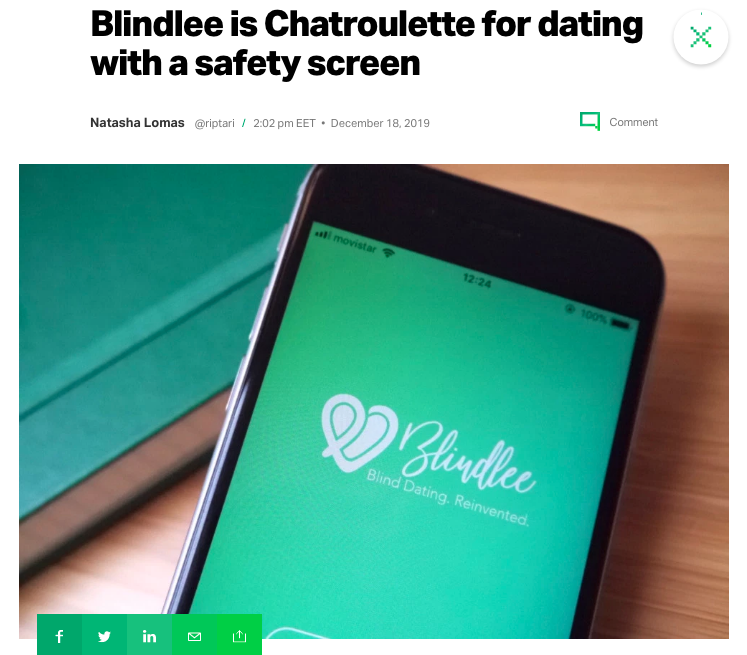 Blindlee Featured on TechCrunch
