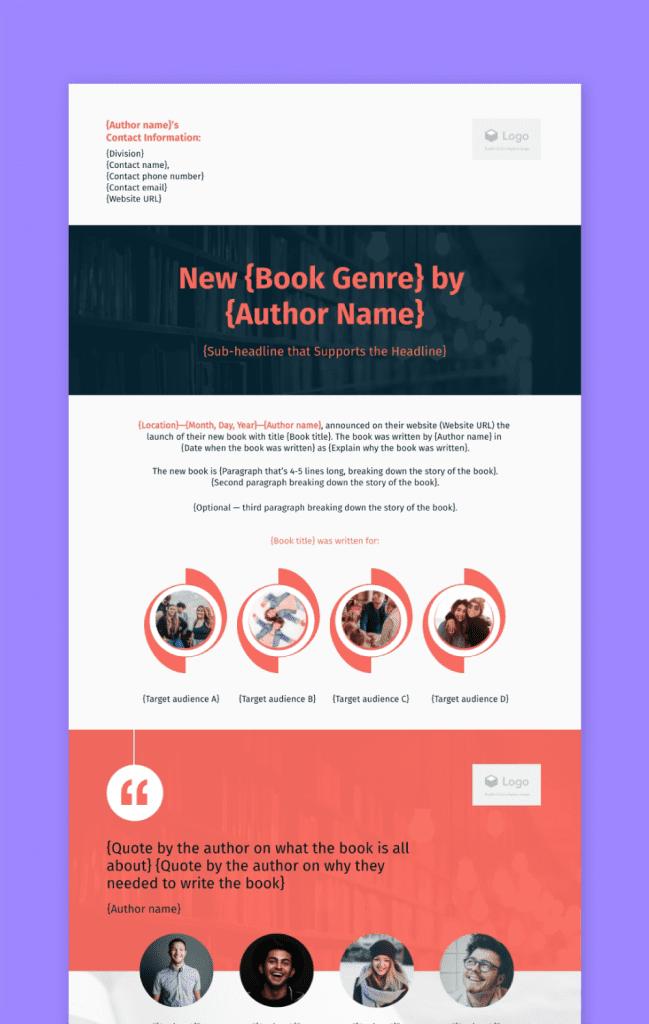Book Press Release Preview