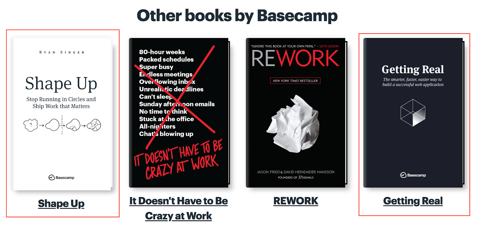 Books by Basecamp