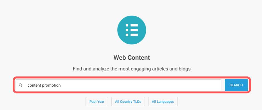 BuzzSumo Content Discovery