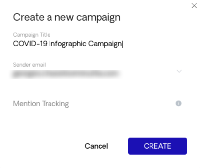 COVID 19 Campaign Creation