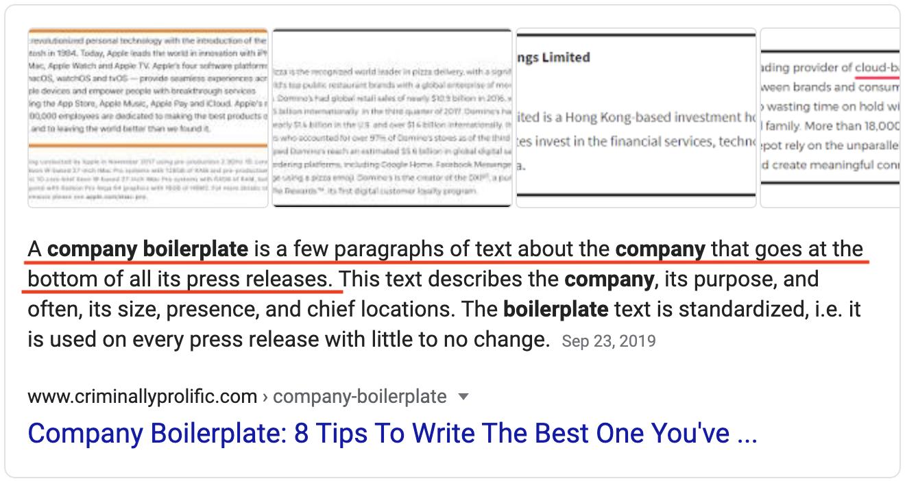 Company Boilerplate