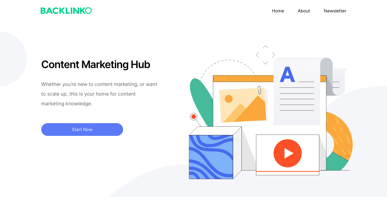Content Marketing Hub Main Page