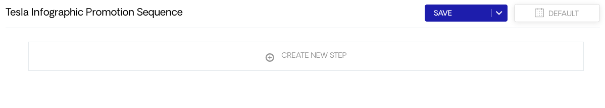 Create New Step for Sequence
