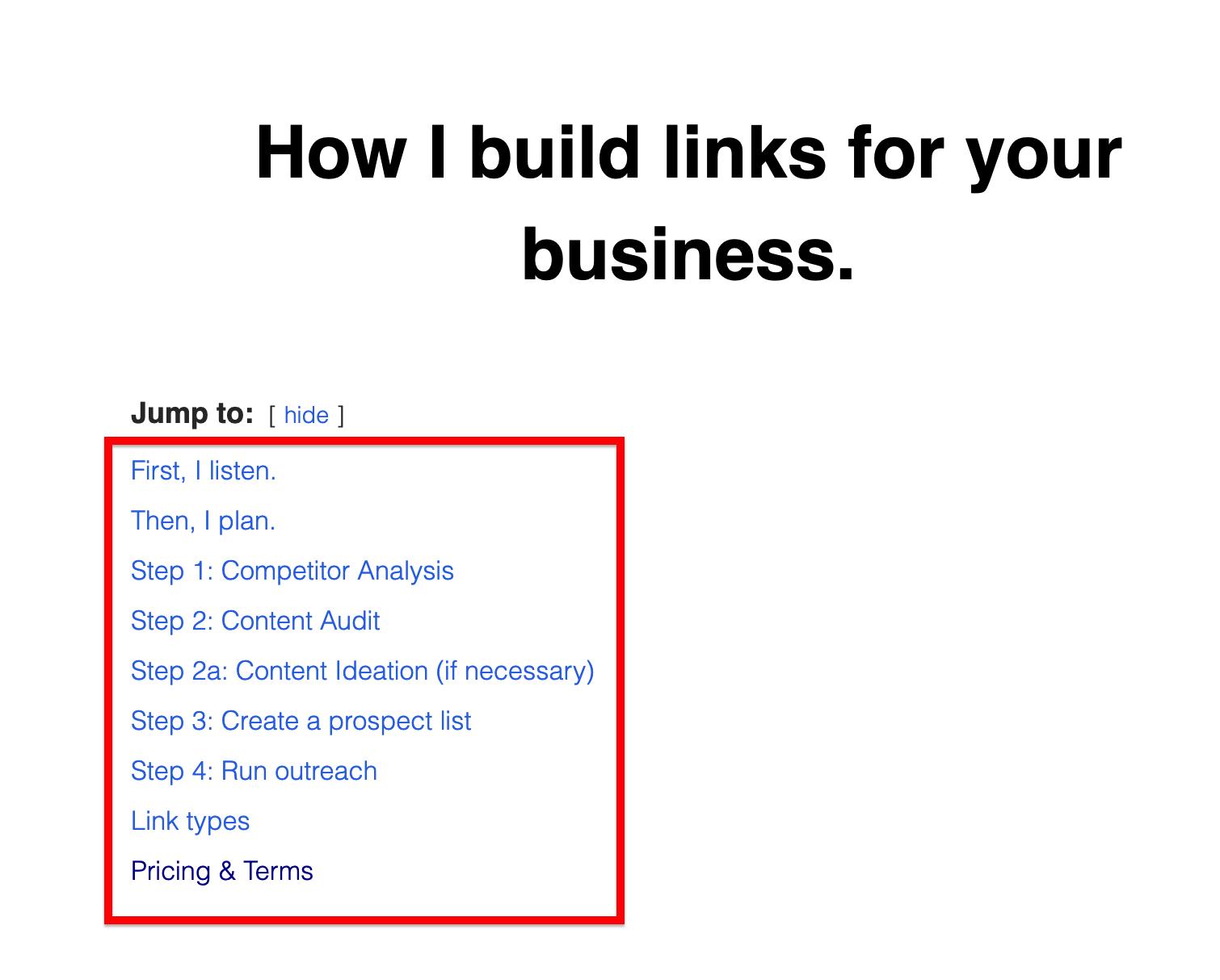 BibiBuzz link building process