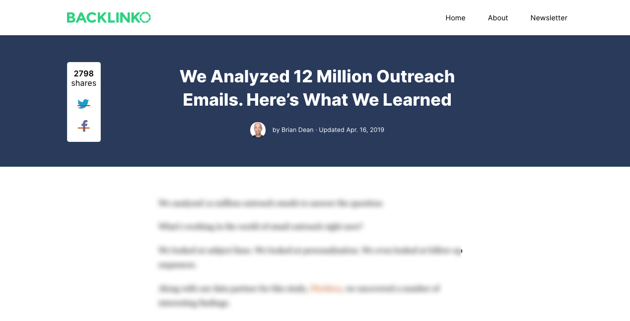 Email Outreach Study 1