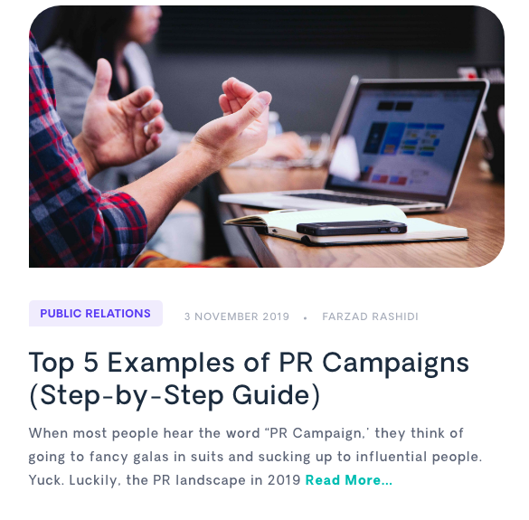 Examples of PR Campaigns Blog Post