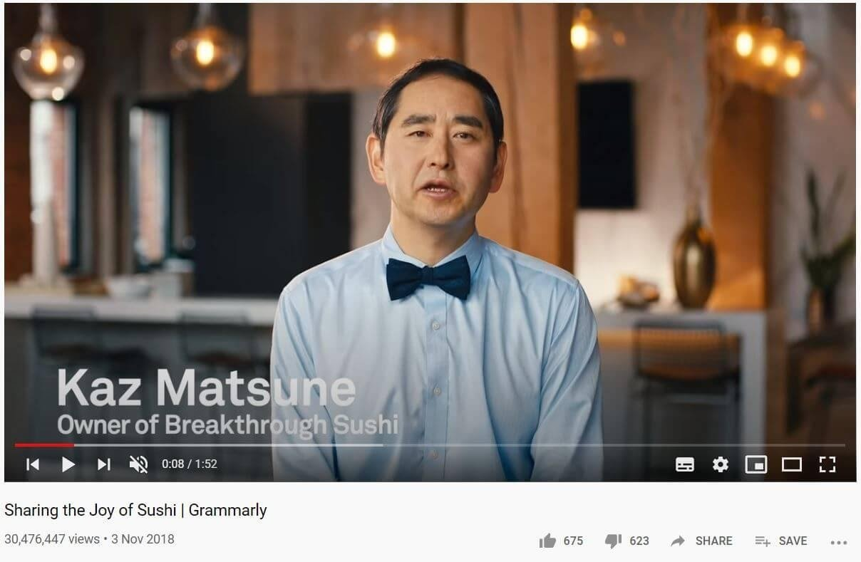 Grammarly youtube video 1