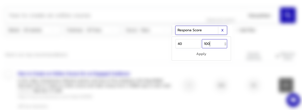 Filtering Results by Respona Score