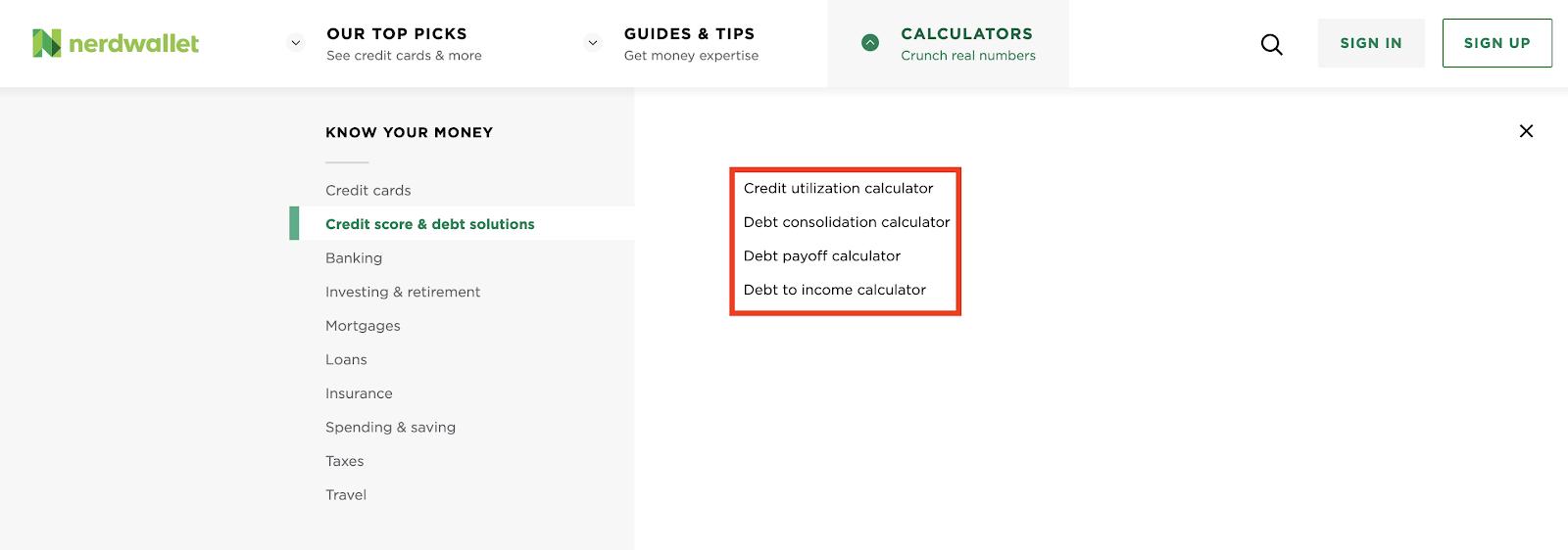 Nerdwallet credit score features