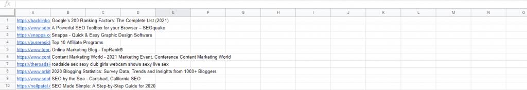 List of competitors