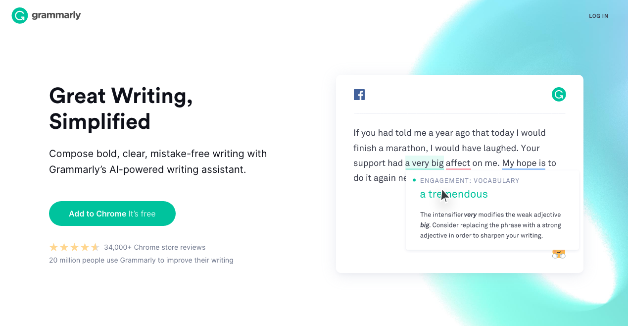 Grammarly Home Page