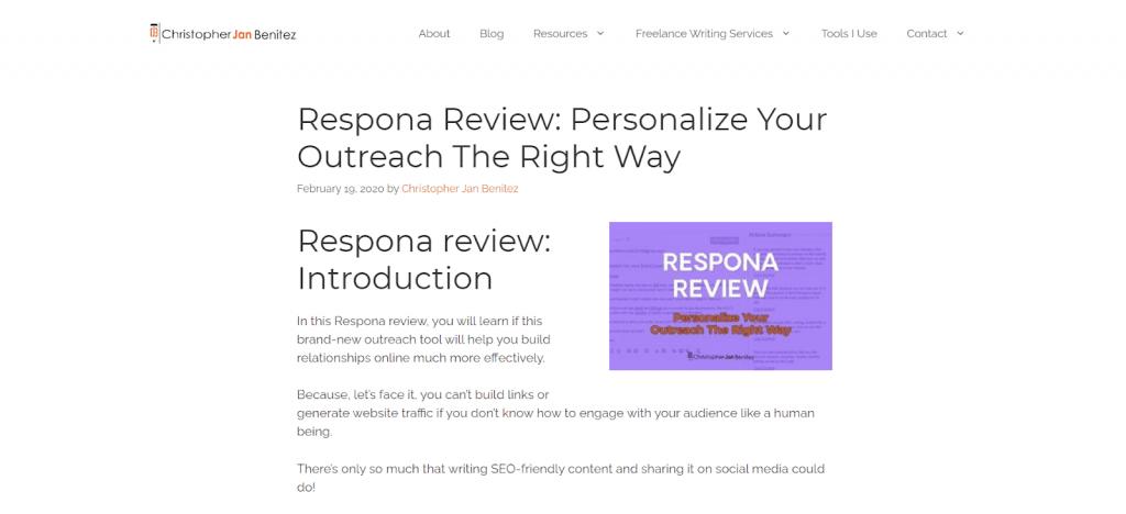 Respona review post