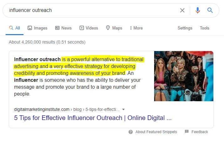 Influencer Outreach Definition
