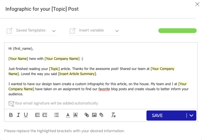 Infographic Email Template Version 2