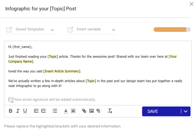 Infographic for Your Topic Post Email on Responas Editor