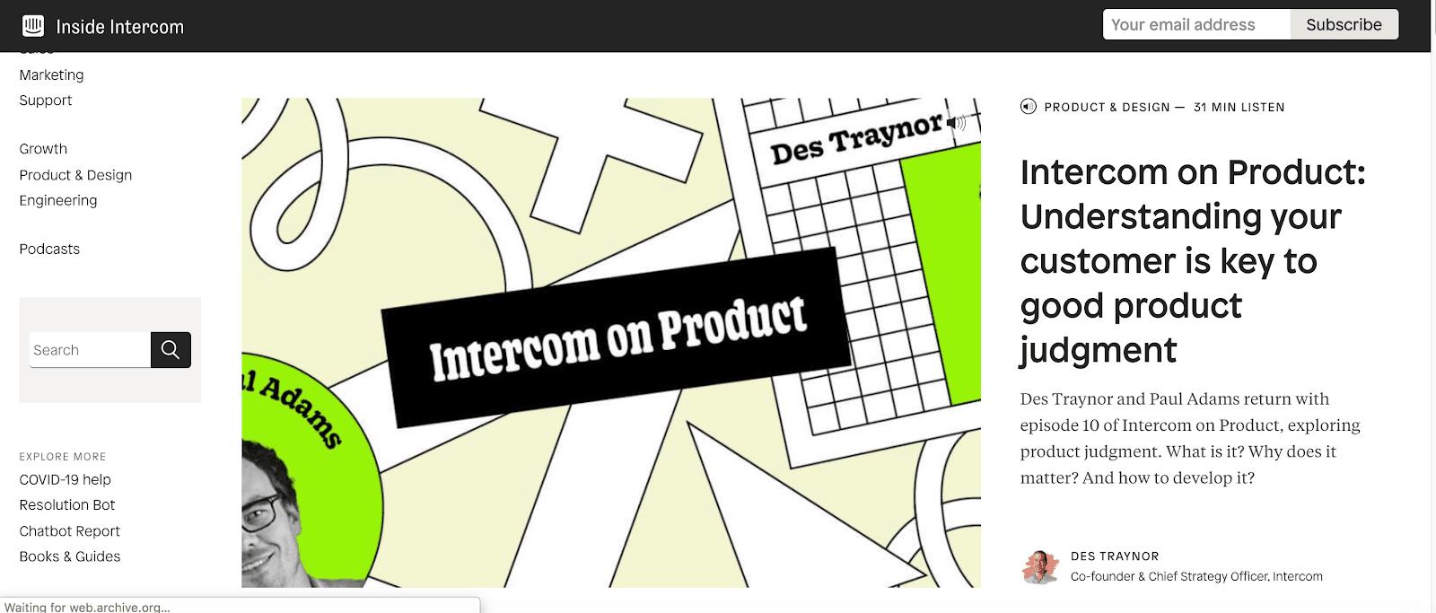 Inside Intercom