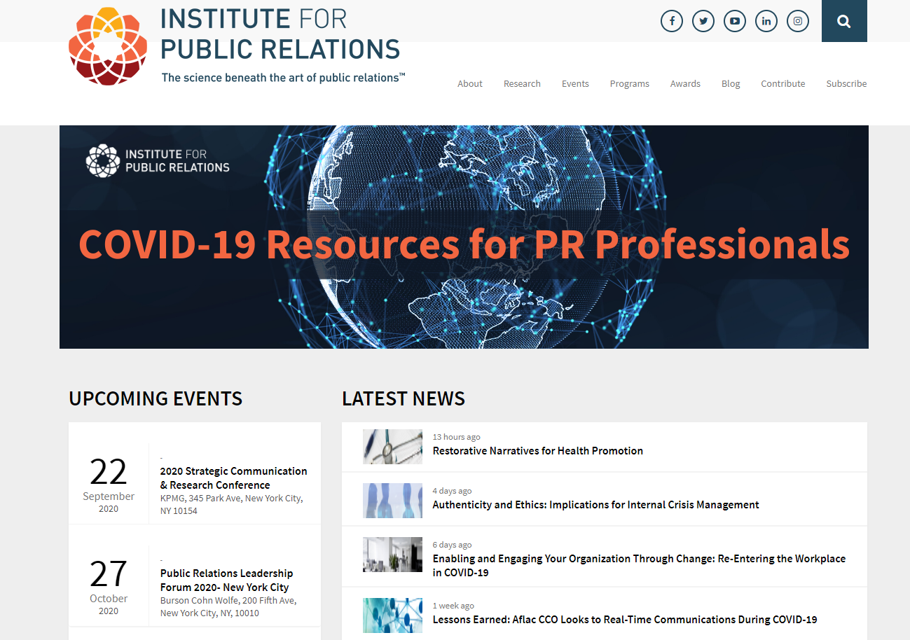Institute for Public RelationsIPR Home Page