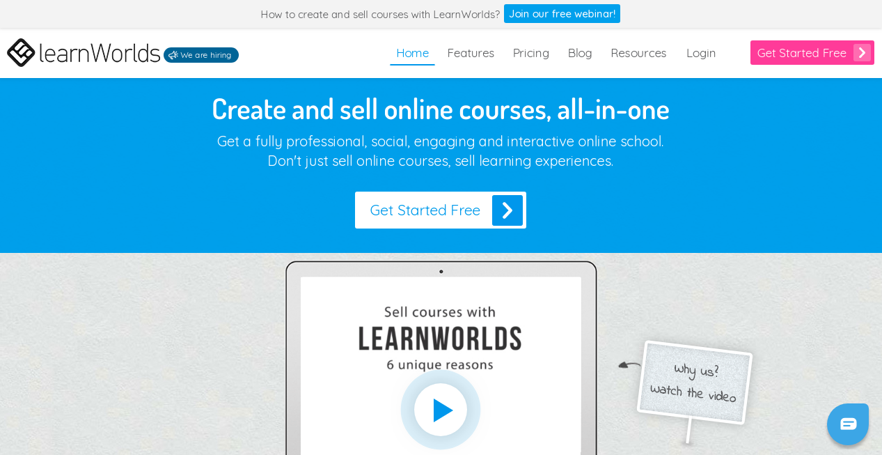 LearnWorlds Homepage