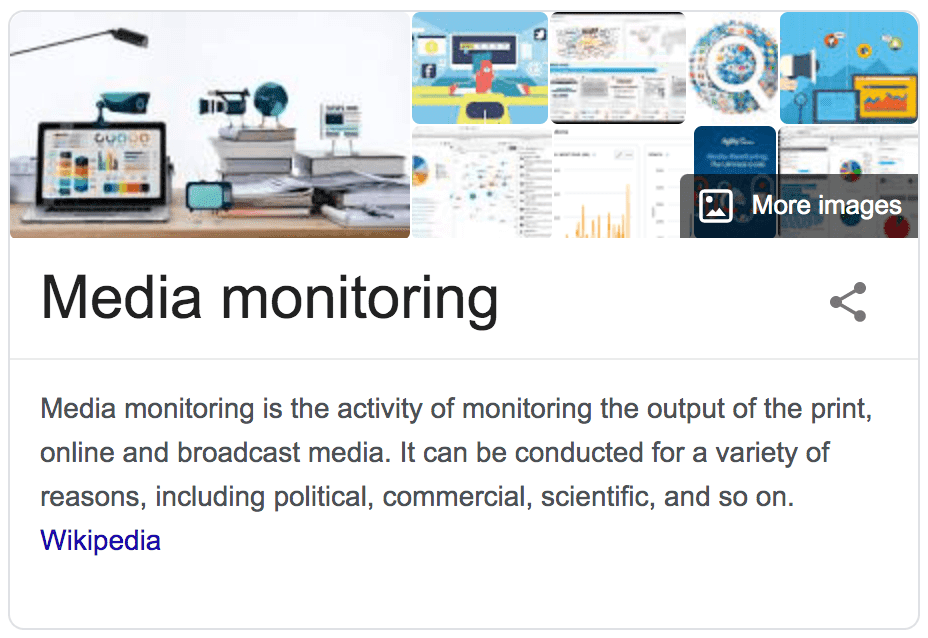 Media monitoring definition