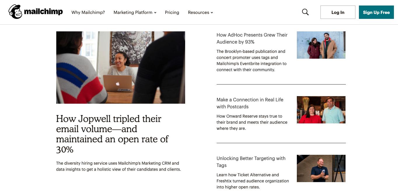 Mailchimp success stories
