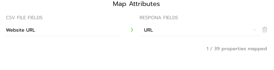 Map Attributes Inside Respona