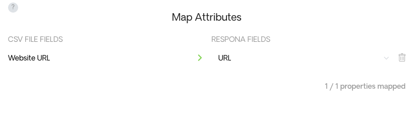 Map Out Attributes