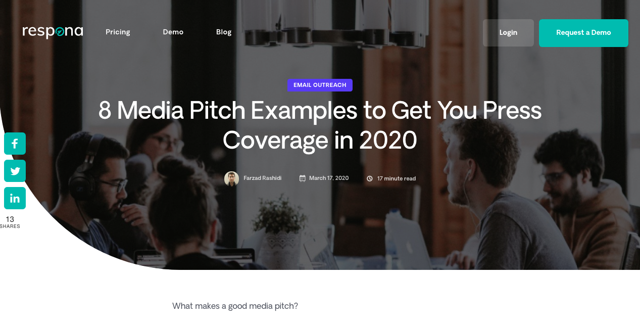 Media Pitch Examples 1