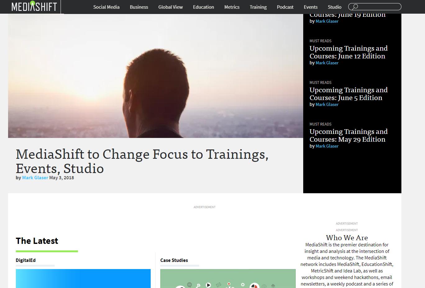MediaShift Home Page