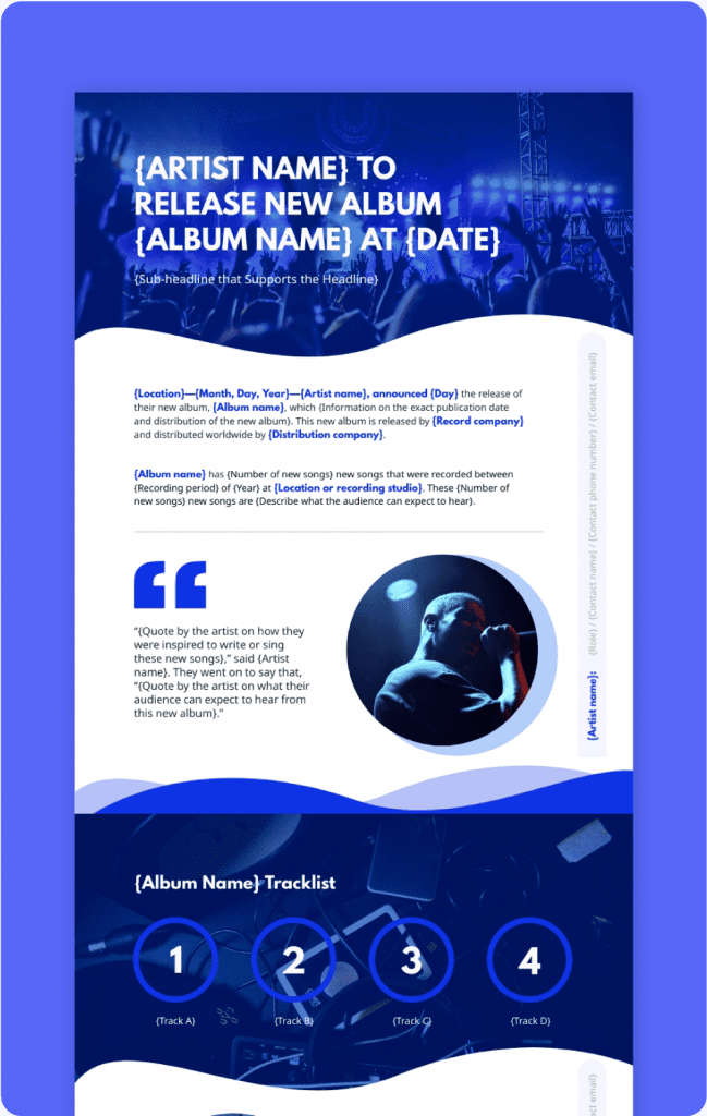 Music Press Release Preview