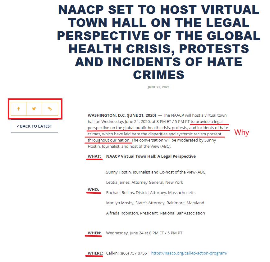 NAACP media advisory