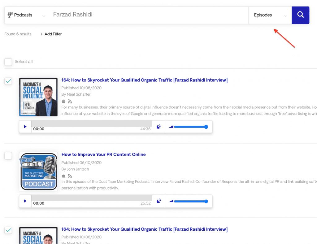 Farzad Rashidi podcast results