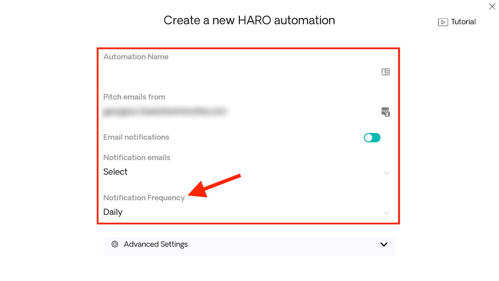 Notification Frequency for HARO Opportunities