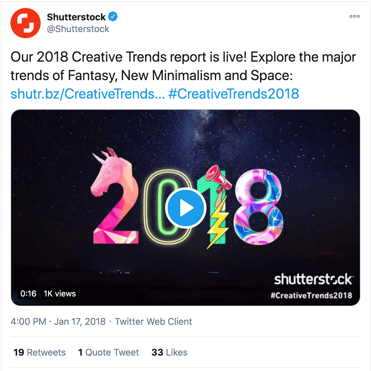 Shutterstock Twitter post