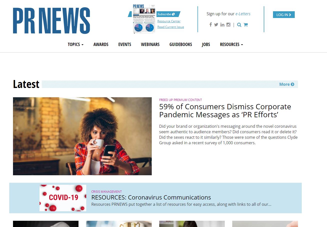 PR News Home Page
