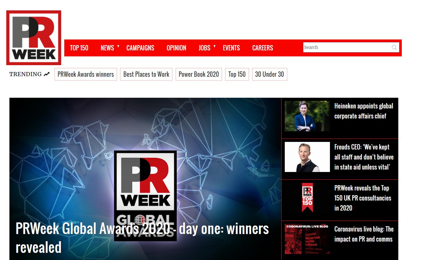 PR Week Home Page